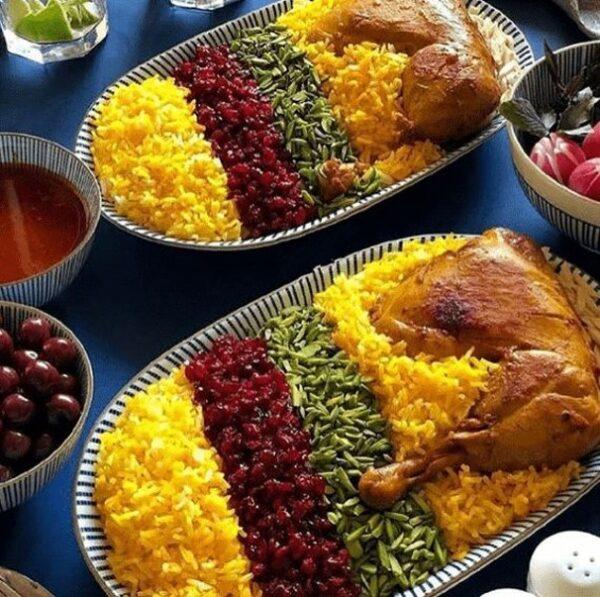غذای نذری با مرغ